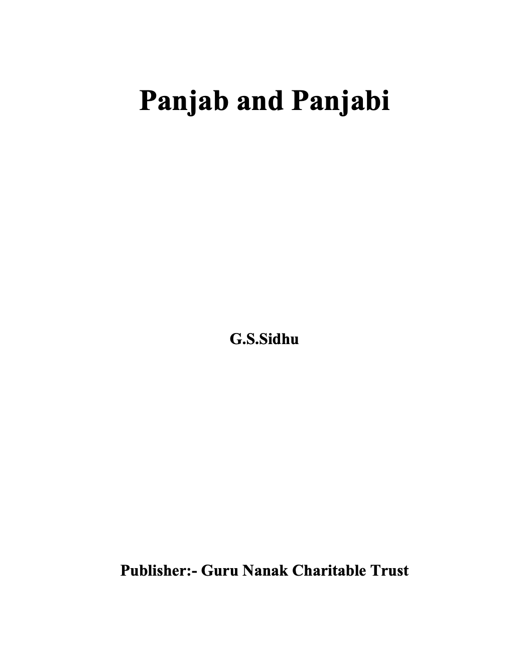 Panjab and Panjabi