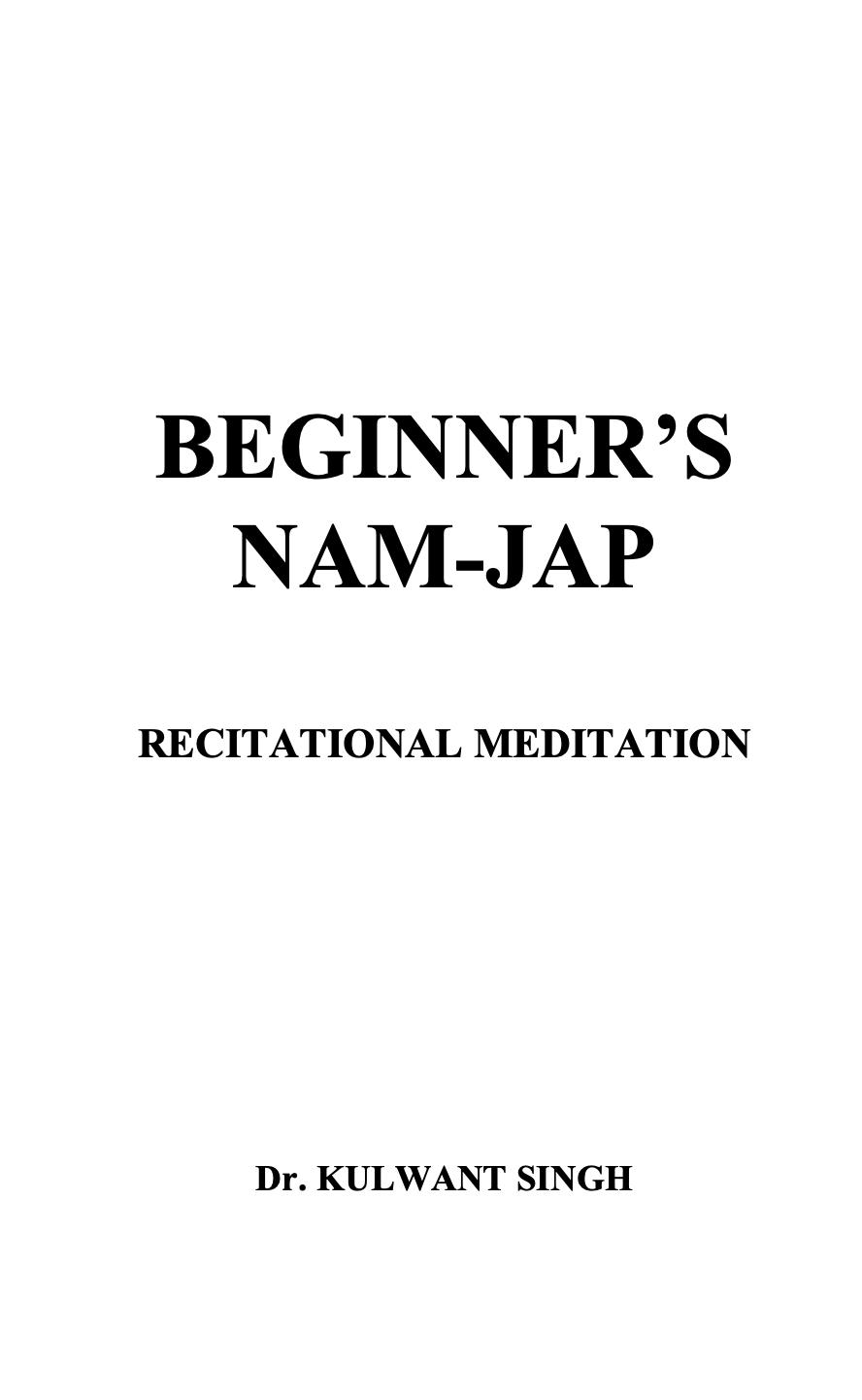 Beginners Naam Jap